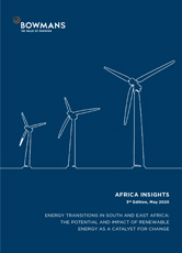 Third edition, May 2020: Energy Transitions in South and East Africa: The Potential and Impact of Renewable Energy as a Catalyst for Change