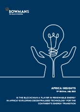 Eleventh edition, July 2021: Is the blockchain a player in renewable energy in Africa? Exploring decentralised technology for the continent's energy transition